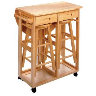 New Winsome Wood Beachwood Breakfast Bar Stool Set $175