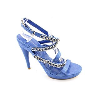 BCBGeneration Wren Womens Size 8 Blue Animal Print Leather Pumps