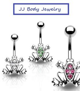 Navel Belly Ring Gemed Frog Body Jewelry Belly Button