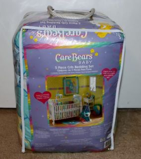 CARE BEARS BOY GIRL BABY NURSERY CRIB BEDDING 5PC SET W/ MATCHING LAMP