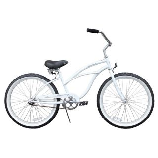 Beach Cruiser Bicycle bike Firmstrong URBAN 24 Womens WHITE with Alloy