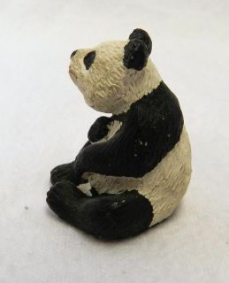 Miniature Mini Land and Sea Nature Series Panda Bear Figurine