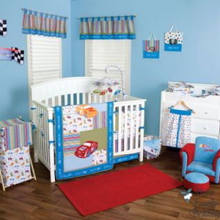 Car Baby Boy Girl Neutral Kid Toddler Crib Nursery Bedding Set