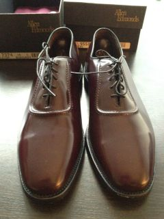 Allen Edmonds Belgium Mens Shoes Burgundy leather 10 C vintage BNIB