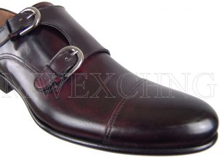 Francesco Benigno Double Monk Strap Loafers UK 8 Italian Designer Mens