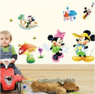 Disney Mickey Minnie Mouse Removable Wall Stickers Art Decals Nursery
