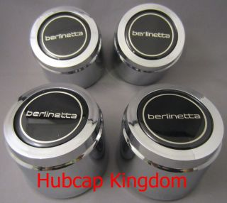 1988 Chevy Camaro Berlinetta Wheel Center Cap Black Chrome Set