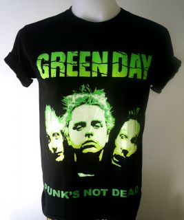 Green Day Punk Rock Billie Joe Armstrong T Shirt s XL