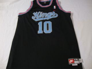 Sacramento Kings Mike Bibby NBA Basketball Jersey 10 RARE Nike Black