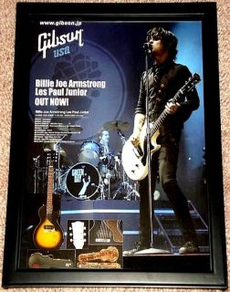 Green Day Billie Joe Armstrong Signature Gibson Les Paul Junior Framed