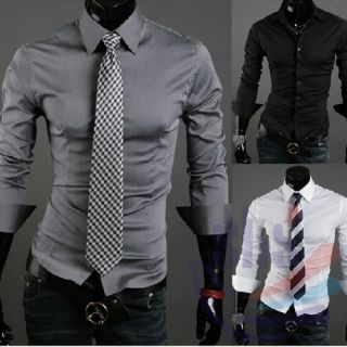 Design Stylish Slim Fit Modern Shirts Casual Dress Size M L