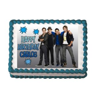 Big Time Rush 2 Edible Cake Party Topper Decoration