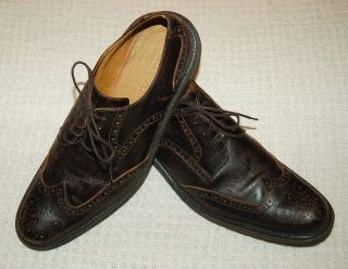 Mens Billy Reid Wing Tip Leather Shoes Size 9 5 D Handmade Amazing