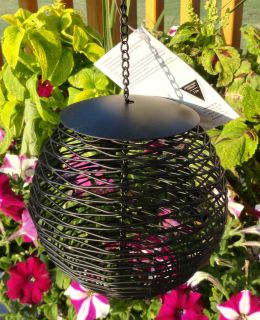 Ball Peanut or Sunflower Seed Wild Bird Feeder Black Mesh Metal Garden