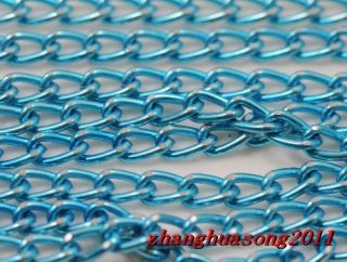 Free Ship10Meter lake blue Aluminum chain finding (Each ring about