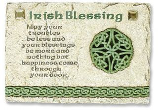Irish Blessing Wall Plaque with Traditional Irish Prayer Inscribed