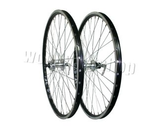 MTB Rigida x Star CNC Black Rims Front and Rear Disc Wheels