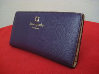 NWT KATE SPADE GRANT PARK STACY WALLET EGGPLANT
