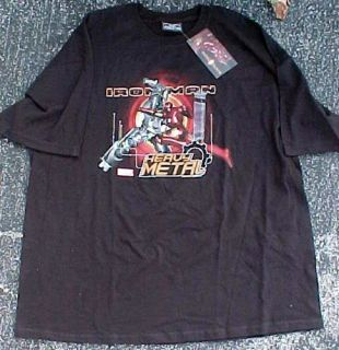 Mens Marvel Iron Man Heavy Metal T Shirt Sz XXL
