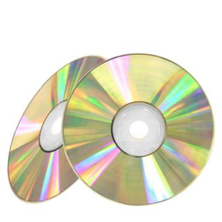 100 52x Shiny Silver Top Blank CD R CDR Recordable Disc