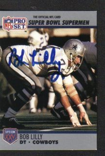 Dallas Cowboys Bob Lilly 74 Signed Trading Card