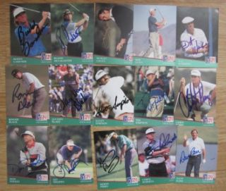 1991 Pro Set PGA Tour Golf Signed Autographed Trading Card Collection