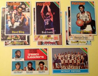 Topps Detroit Pistons NBA Team Set EX to NM inc Bob Lanier Dave Bing