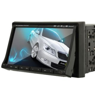 DIN Touch Screen Car Radio DVD Player Bluetooth iPod FM TV