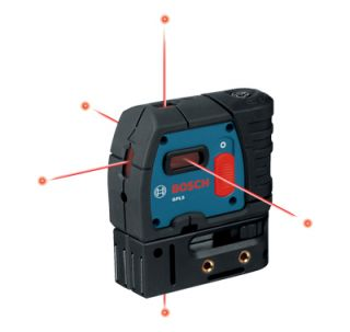 bosch gpl5 self leveling 5 points alignment laser features integrated