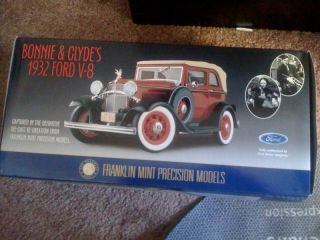NEW Franklin Mint Precision Models Bonnie Clydes 1932 Ford V 8 Scale 1