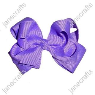 Solid Grosgrain Baby Girl Hair Bows in Lavender 24pcs Wholesale