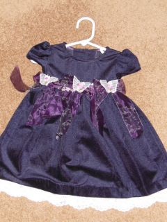 Bonnie Baby Violet butterfly lace trimmed dress 18M for Baby or Reborn