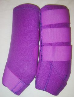 Purple Barrel Racing Sport Medicine Boots Neoprine Horse Leg Wraps