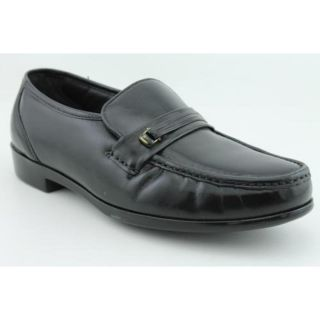 Bostonian Prescott Mens Size 8 Black Leather Loafers Shoes