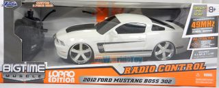 JADA 116 RADIO CONTROL LOPRO 2012 FORD MUSTANG BOSS 302 RC CAR