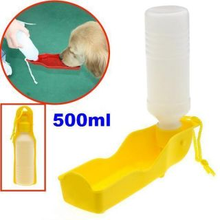 Pet Dog Cat Water Drink Bottle Dispenser Feeder Travel Bowl