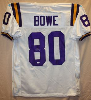 Dwayne Bowe Autographed LSU Tigers White Jersey Authenticated by JSA