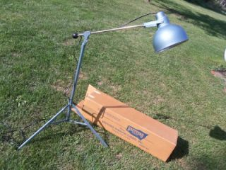Vintage Retro Bretford Industrial Age Light Heat Sun Lamp Tripod