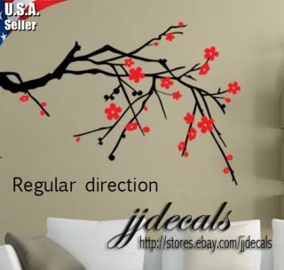 Cherry Blossom Tree Branch Wall Art Decor Removable Vinyl Decal