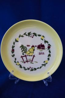 Vintage Brock of California Yellow Rooster Small Plate