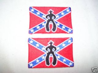 Cowboy UP Patches rodeo PBR bull riding gear equipment Confederate