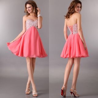 New Sweet Princess Wedding Bridal Evening Homecoming Party Dress Off