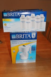 BRAND NEW BRITA WATER FILTER PITCHER BASIC 6 CUP CLASSIC MODEL + 8 NEW