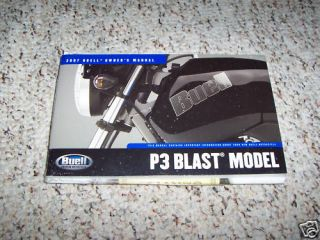 2007 Buell P3 Blast Owners Owners Manual Book Guide