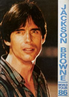 jackson browne 1986 tour concert program book