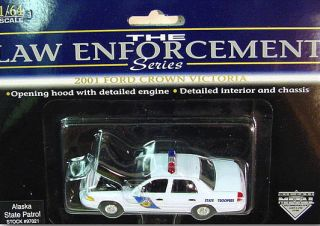 Alaska State Troopers 2001 Ford Crown Victoria Patrol Car 1 64 Scale