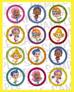 Cake Cookies Cupcakes Toppers Bubble Guppies Fish CC147S