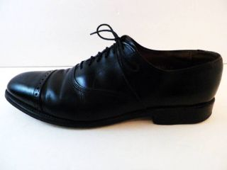 Allen Edmonds Byron Black Leather Mens Size 9B Oxfords Shoes Made in