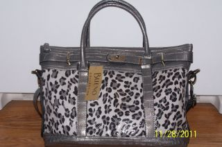 Bueno Collection Snake Skin Print Purse Tote Handbag New