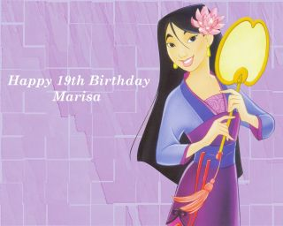 Mulan Personalised Rectangular Edible Icing Sheet Cake Toppers